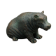 Bronze look hippo ornament online at PurpleSunrise home gift store in Southend by London Ornaments