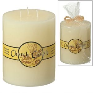 3 Wick Church Candle 15cm Tall