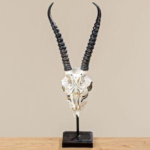 Faux Antelope Skull on Base