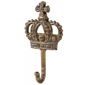 Antique Gold Crown Wall Hook