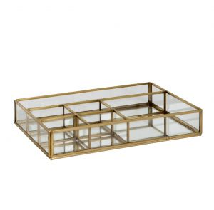 Large Mirrored Storage Tray
