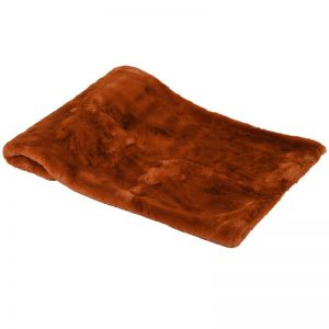 Burnt Umber Faux Fur Throw