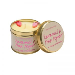Bomb Cosmetics Caramel & Pink Pepper Candle Tin