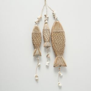Set of 3 Wooden Fish