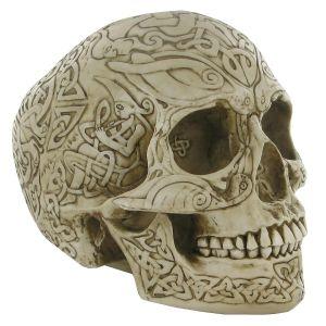 design clinic celtic skull ornament