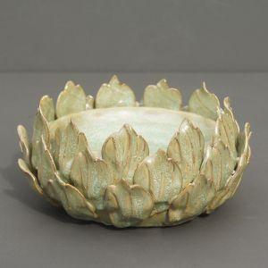Ceramic Open Flower Candle Holder