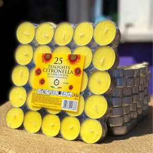 3 x Pack of 25 Price's Citronella Tealight Candles