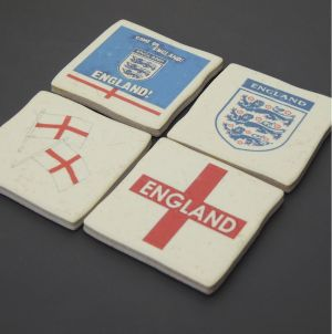 ceramic england football coaster