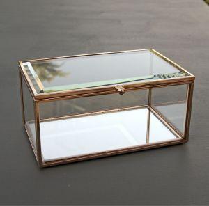 copper edge glass jewellery box