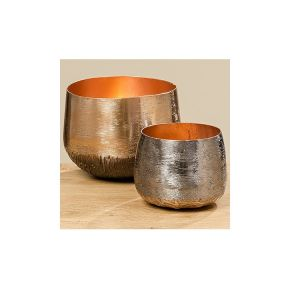 metal copper candle bowl holder