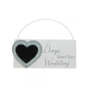 Days to Wedding Chalkboard Plaque