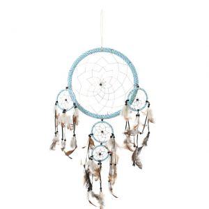 large blue indian dream catcher