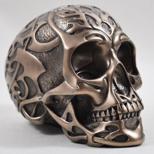 Medium Bronze Tribal Skull by Design Clinic