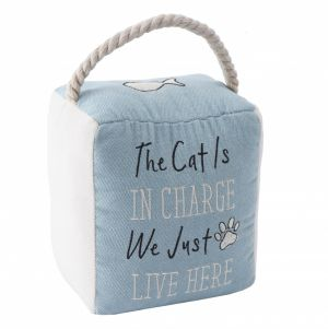The Cat Is In Charge Doorstop