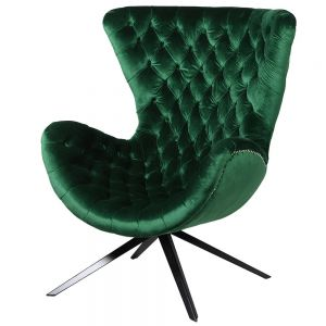 emerald-green-curved-buttoned-chair