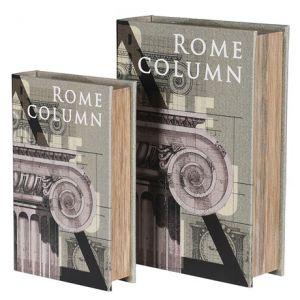 Rome Column Set of 2 Book Storage Boxes