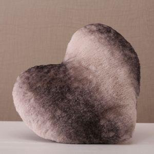 Super Soft Faux Fur Heart Cushion