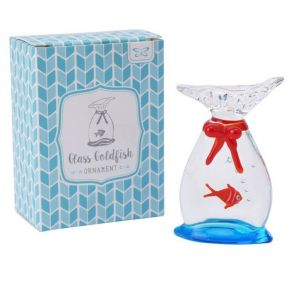 Glass Goldfish In A Bag