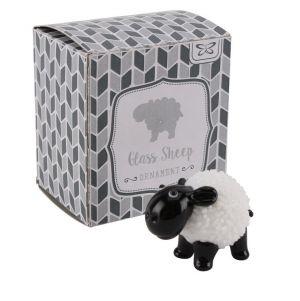 Small Glass Sheep Ornament