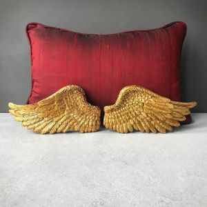 Gold angel wing wall hanging decor pair