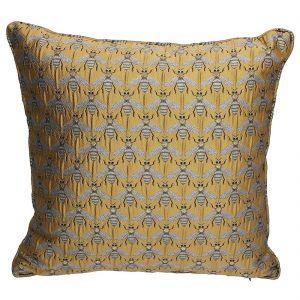 Gold Bee Design Jacquard Cushion
