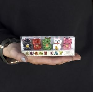Lucky Fortune Cat Fridge Magnet Set