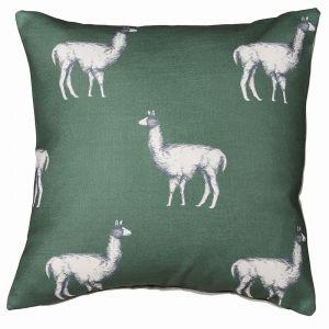green-llama-cushion-cover