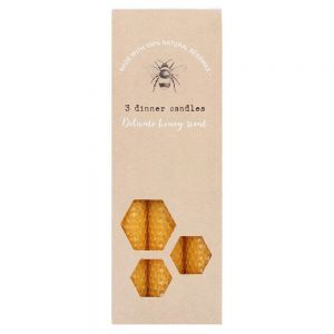 Set of 3 Honeycomb Beeswax Candles