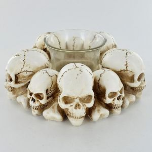 Human Skull Tealight Candle Holder