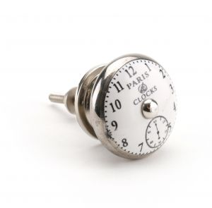 Silver Paris Clock Face Drawer Pull