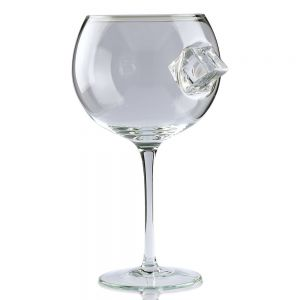 Ice & Slice Copa Glass with Ice Cube