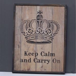 wood sign keep calm carry on