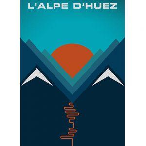 Shop L'Alpe d'Huez art print by Jeremy Harnell at PurpleSunrise poster online stockist