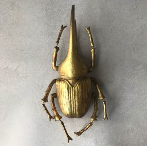 Large Golden Stag Beetle Ornament