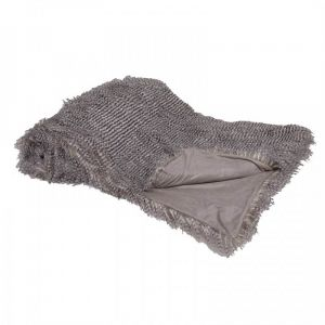 Large Speckled Faux Fur Throw