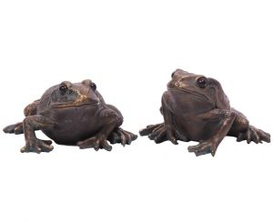 bronze-effect-frog-toad-ornament-pair