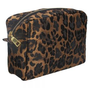 leopard print cosmetic pouch by Gisela Graham at PurpleSunrise in Southend