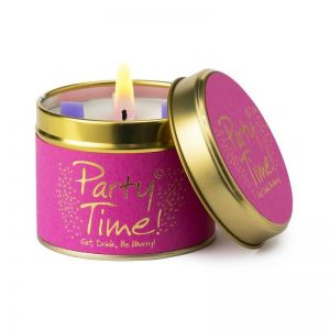 party time lily flame tin candle uk delivery