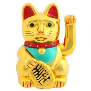 shiny gold lucky fortune cat