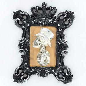 3D male skeleton portrait frame