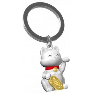 White Lucky Cat Keyring