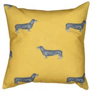 mustard-dachshund-hot-dog-cushion-cover
