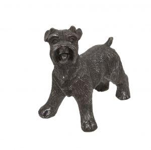 old-schnauzer-ornament-antique-silver-grey-dog