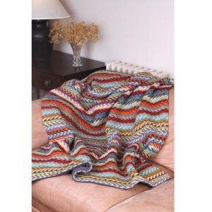 Pachamama Santa Fe Wool & Fleece Throw
