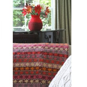 pachamama pink warm colour wool throw