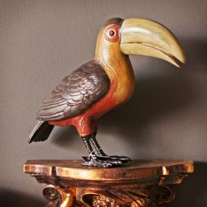Vintage Painted Wood Toucan
