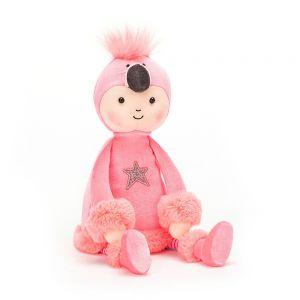 jellycat pink perky flamingo doll