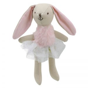 Pink Girl Rabbit Soft Toy by Wilberry