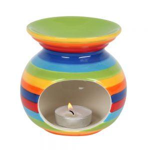 Rainbow Stripe Tealight Oil Burner