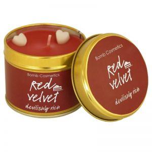 Red Velvet Bomb Cosmetics  Candle Tin